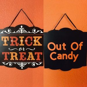 Out Of Candy Trick or Treat Sign
